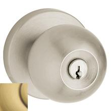 Satin Brass and Brown 5215 Modern Entry Knob