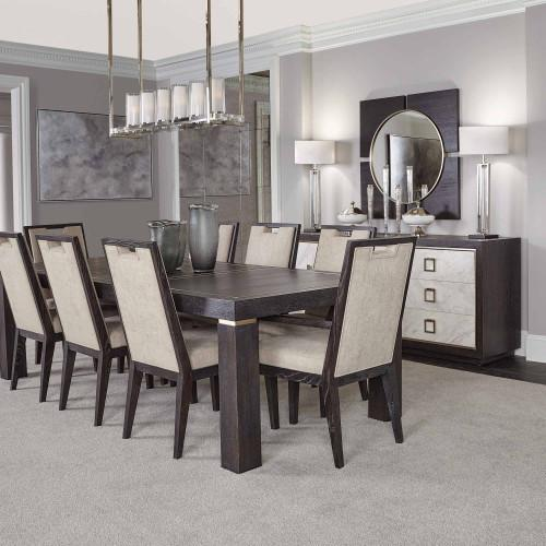 Decorage Dining Table in Cerused Mink (380)