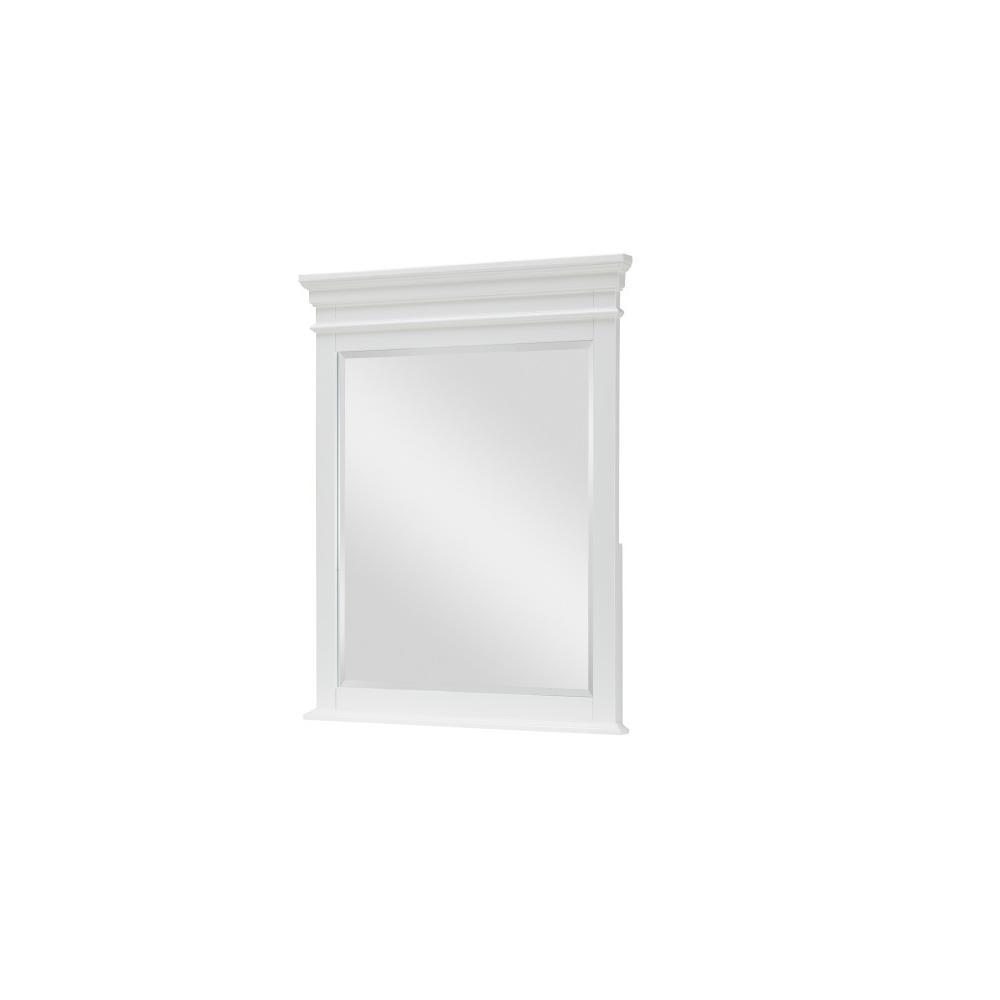 Canterbury - White Vertical Mirror