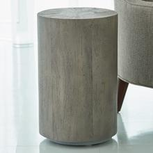 See Details - Driftwood Drum Table-Grey