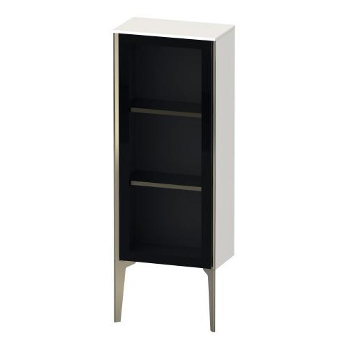 Product Image - Semi-tall Cabinet With Mirror Door Floorstanding, White High Gloss (lacquer)