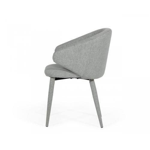 Gallery - Modrest Keller - Modern Grey Dining Chair (Set of 2)