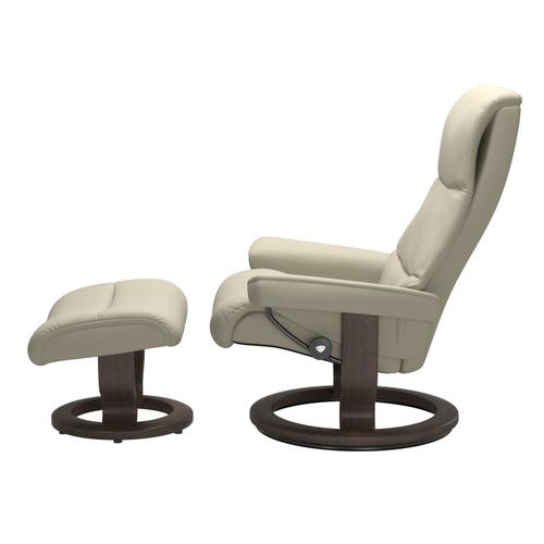 Stressless By Ekornes - Stressless® View (M) Classic chair with footstool
