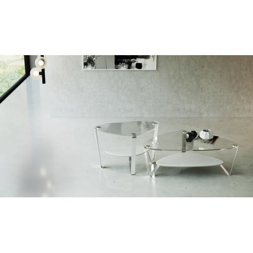 BDI Furniture - Dino 1344 Small Coffee Table in Gloss White