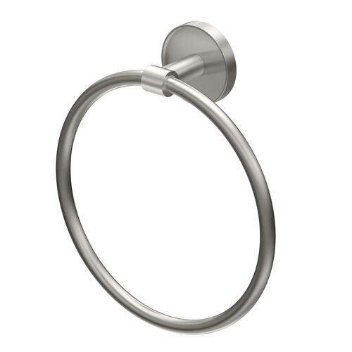 Sky Towel Ring in Satin Nickel