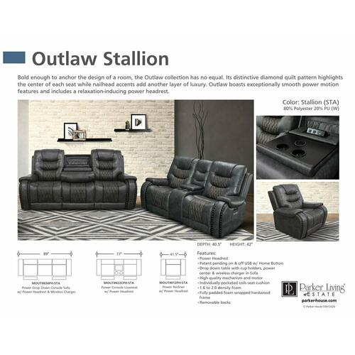 Parker House - OUTLAW - STALLION Power Reclining Collection