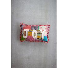 See Details - Christmas Joy Kantha Pillow