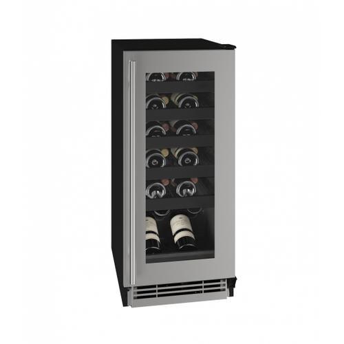 "U-Line - Hwc115 15"" Wine Refrigerator With Stainless Frame Finish (115v/60 Hz Volts /60 Hz Hz)"