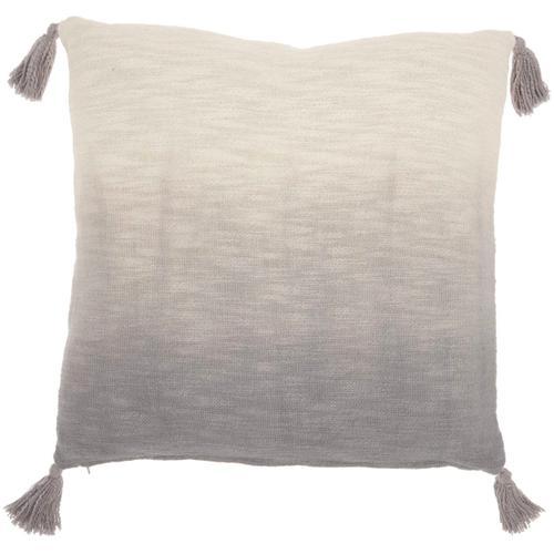 "Life Styles Aq130 Grey 22"" X 22"" Throw Pillow"