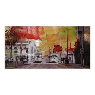 Red Street Wall Decor