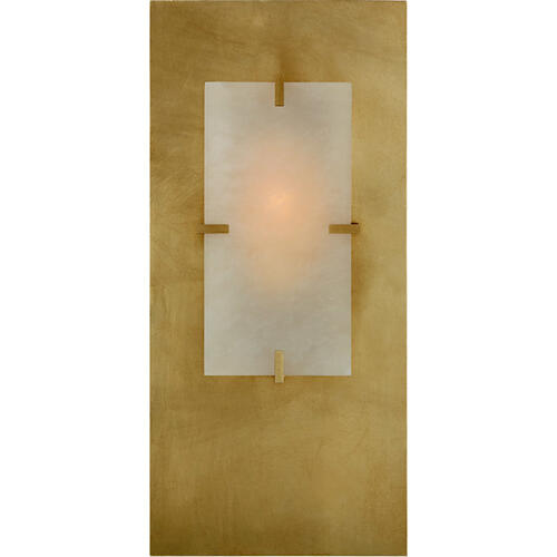 AERIN Dominica 1 Light 9 inch Gild Rectangle Sconce Wall Light