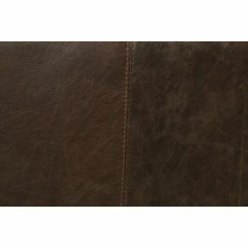 ACME Winchester Chair - 52437 - Aluminum & Distress Espresso Top Grain Leather