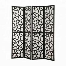 ACME Aerona 4-Panel Screen Room Divider - 98291 - Black