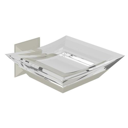 Polished Nickel Vincent Wall Mount Acrylic Soap Dish