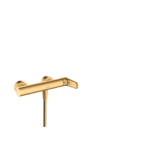 Brushed Brass Single lever shower mixer for exposed installation