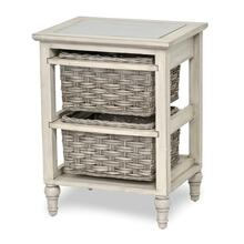 2-Basket Storage Cabinet - Two Toned Gray Finish