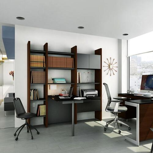 BDI Furniture - Semblance Systems ® 5413-PN in Chocolate Stained Walnut Black
