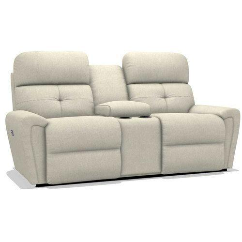 Douglas Power Reclining Loveseat w/ Headrest & Console