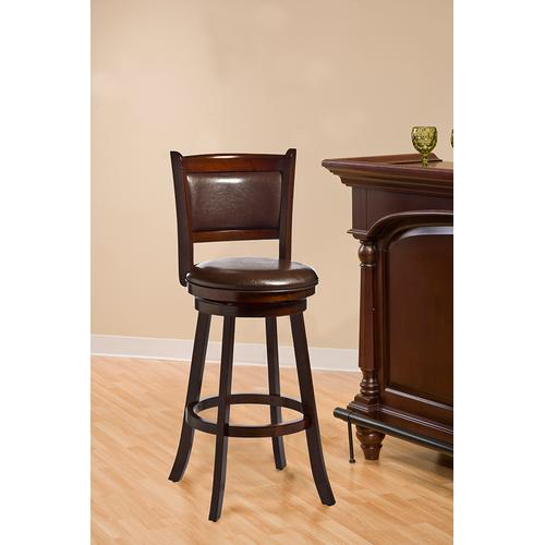 Dennery Swivel Bar Height Stool - Cherry/brown