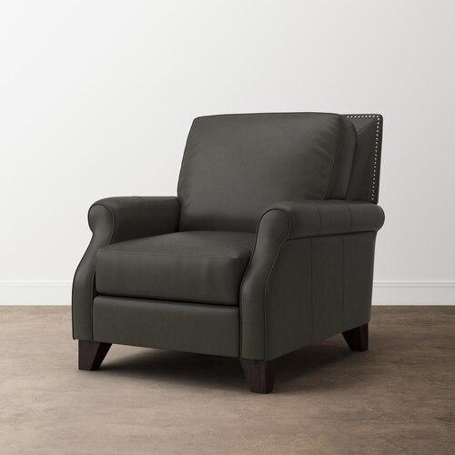 Greyson Gunmetal Greyson Leather Chair