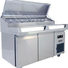 Product Image - 2 Door Prep-table Refrigerator With Stainless Solid Finish (115v/60 Hz Volts /60 Hz Hz)