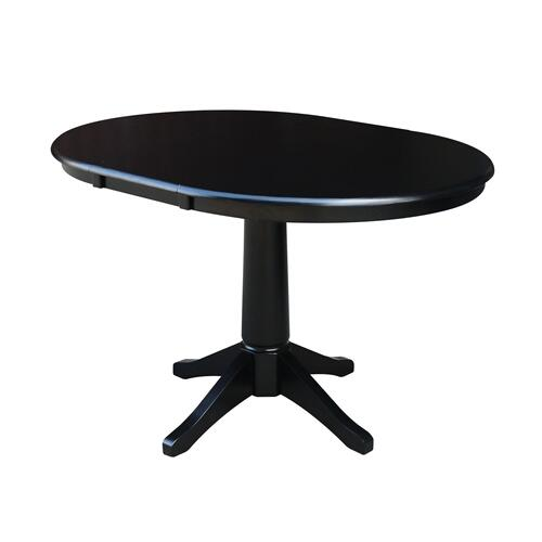 John Thomas Furniture - Round Extension Table in Black