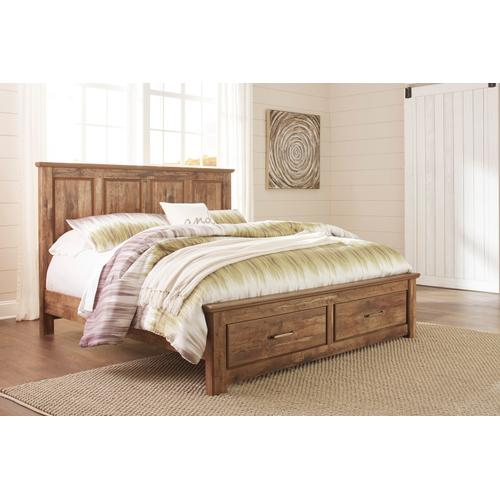 Blaneville - Brown 4 Piece Bed (King)
