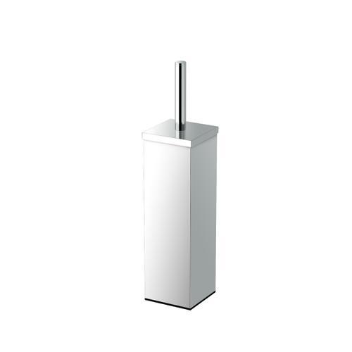 Square Modern Toilet Brush Holder in Chrome