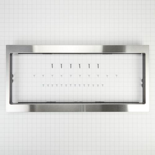 Whirlpool - Built-In Low Profile Microwave Slim Trim Kit, Stainless Steel