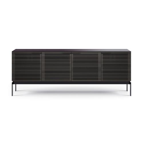 Sv 7129 Quad Media Console Credenza in Charcoal Stained Ash