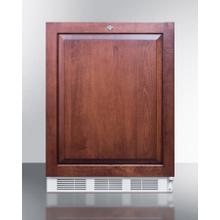 ADA Compliant All-refrigerator for Built-in General Purpose Use, Auto Defrost W/lock, Integrated Door Frame for Overlay Panels, and White Cabinet