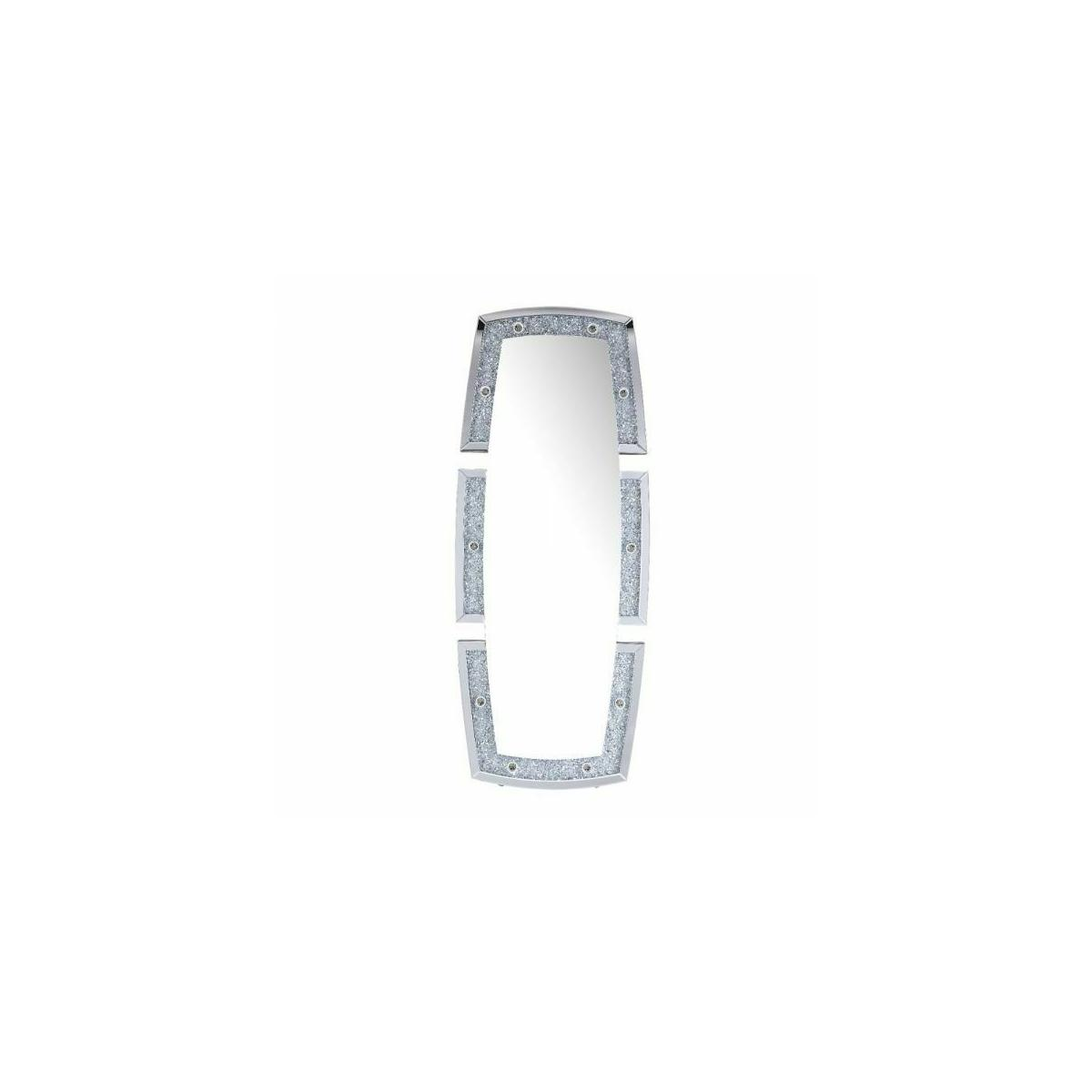 ACME Noralie Wall Decor - 97759 - Glam - LED Light, Mirror, Glass, MDF, Faux Diamonds (Acrylic) - Mirrored and Faux Diamonds