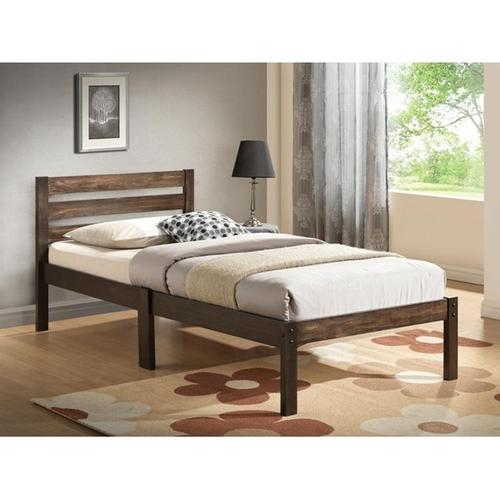 ASH BROWN FINISH TWIN BED