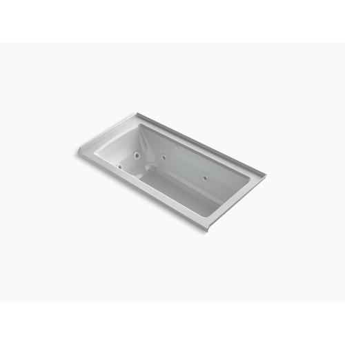 """Ice Grey 60"""" X 30"""" Integral Flange Whirlpool + Heated Bubblemassage Air Bath With Right-hand Drain"""
