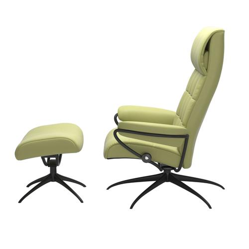 Stressless By Ekornes - Stressless® London Star High back Chair with Ottoman