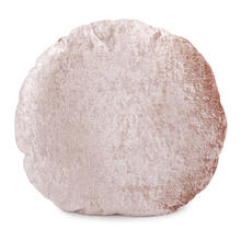 "18"" Round Pillow Amaron Rose Dust Crushed Velvet"
