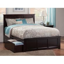 Madison Queen Bed with Matching Foot Board with 2 Urban Bed Drawers in Espresso