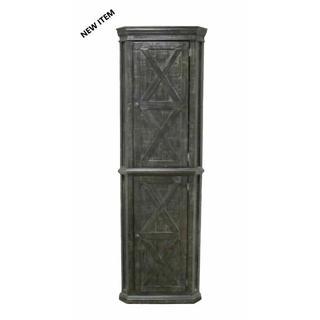 See Details - Barnwood Corner Cabinet