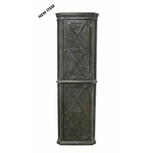 Million Dollar Rustic - Barnwood Corner Cabinet