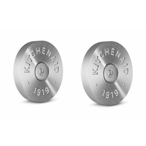 KitchenAid - KitchenAid® Commercial-Style Range Handle Medallion Kit - Silver