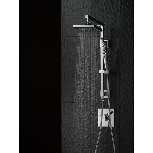 """Black Stainless Shower Column 18"""" Angular"""