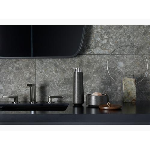 Matte Black Widespread Bathroom Sink Faucet With Lever Handles