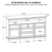 XT72H Extra Tall Custom TV Console