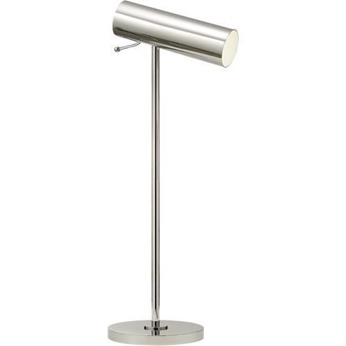 AERIN Lancelot 21 inch 4.50 watt Polished Nickel Pivoting Desk Lamp Portable Light