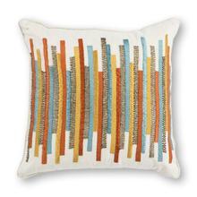 "Pillow L306 Teal/gold Stripes 18"" X 18"""