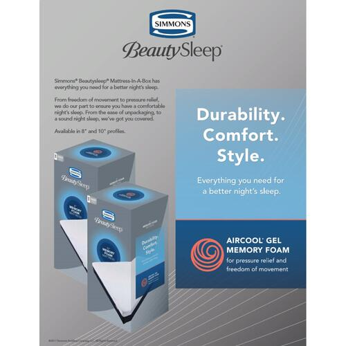 "BeautySleep 8"" Memory Foam - Mattress-In-A-Box - Twin XL"