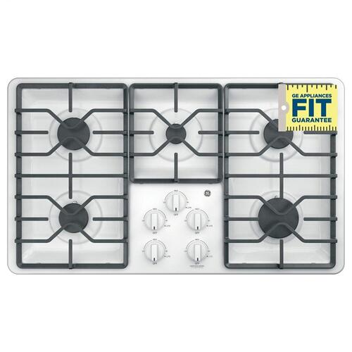 """GE Appliances - GE® 36"""" Built-In Gas Cooktop with Dishwasher-Safe Grates"""