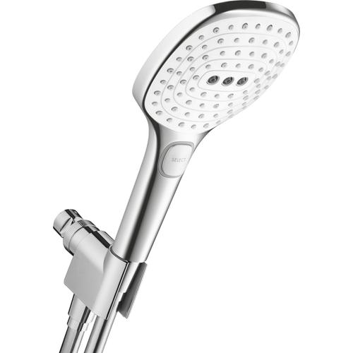 White/chrome Handshower Set 120 3-Jet, 2.5 GPM