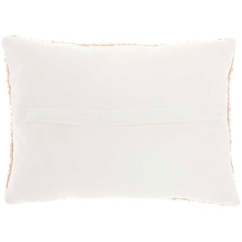"Luminescence Z2001 Ivory Gold 10"" X 14"" Throw Pillow"