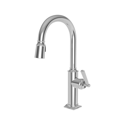 Newport Brass - Antique Brass Pull-down Kitchen Faucet